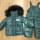 Костюм зимний куртка и полукомбинезон 1 год 80 см. Цвет на выбор