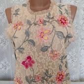 блуза из кружева с вышивкой