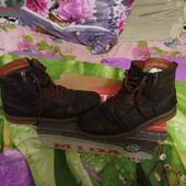 Зимние ботинки МИДа натуральный нубук