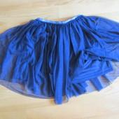 Фирменная юбка-тату из мягкой сетки на подкладке,Италия, на рост 118-122