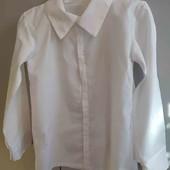 Блуза белая для девочки как новая