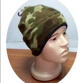 Теплая флисовая двойная шапка шапочка Америка
