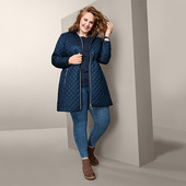 ☘ Чудове стьобане пальто з капюшоном, ecorepel®, Tchibo(Німеччина), розмір наш: 50-52 (44 євро)