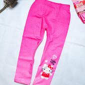 Новые легинсы лосины розовые Китти для девочки рост 92-98 см