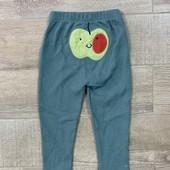 """☘ Якісні та зручні дитячі штанці з аплікацією """"яблучко"""" від Tchibo (Німеччина), розмір: 74/80"""