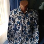 Мужская стрейчевая рубашка, р.M/L