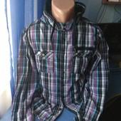Мужская рубашка с капюшоном, р.L