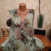 Очень красивая блузочка Next на запах мятного цвета вискоза