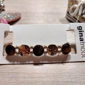 Германия!!! Золотистый женский браслет со вставками! 9,95€ по ценнику!