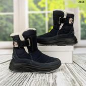 Супер! Темно синие! Последний 38! Шикарные зимние ботинки. Лёгкие,теплые,красивые.Украина! ..