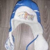 Тёплая зимняя шапка на 3-5лет