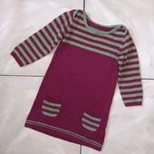 Стоп! ❤Фирменное коттоновое трикотажное платье,1-2 года❤Собирайте лоты,экономьте на доставке