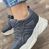 Женские крутые демисезонные кроссовки(высота платформы 5,5см)