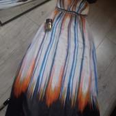 Платье сарафан в пол камни бисер паралоновый бюст новая вещь без бумажной бирки