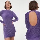 ☘ Лот 1 шт ☘ Сукня з жатого велюру від H&M (Німеччина), розмір євро: S