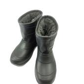 Кожаные мужские зимние сапоги укороченные 41 42 43 44 45 46