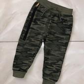 Стоп ,милитари-стиль❤ Фирменные ,на байке, спортивные штаны для мальчика,1,5//2 года❤ Много лотов!