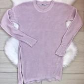 Туника вязаная розовая фирменная Gina Tricot (р. M)