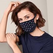 ☘ 1 шт ☘ Захисна маска з чистої бавовни Tchibo, горошки