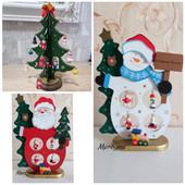 Праздничный деревянный декор 3d украшение из дерева! Снеговик или Дед мороз или Ёлочка.Один на выбор