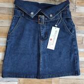 Распродажа! Модная джинсовая юбка с высокой талией. 2 цвета
