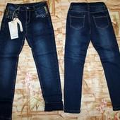 Шикарные джинсы для девочек на флисе seagull 134-164 р.р.