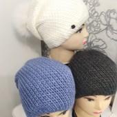 Красивые тёплые шапочки Много Цветов! Покупайте прямо сейчас