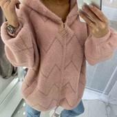 Теплая куртка из альпаки