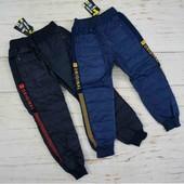 Болоньевые теплые штаны для мальчика 10-14лет